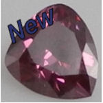 Fancy Pink Purple HPHT loose Triliant cut diamond
