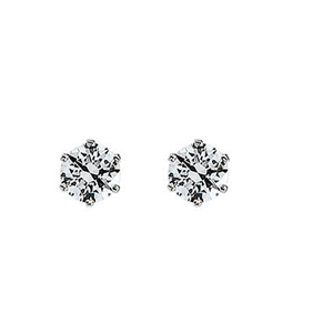 Round Diamond Stud Earrings 14k ( 0.92 Ct, I Color, VS1-VS2 Clarity)