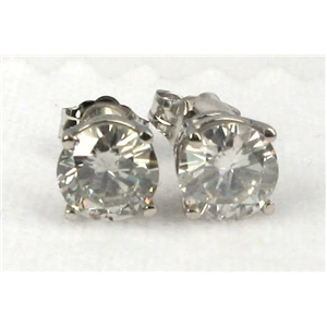 Diamond Stud Earrings, 2.06Ct, G Color, SI2 Clarity