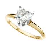 Heart Shaped Diamond Solitaire Ring, 1.32 Carats, VS1, G Color