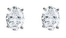 Oval Cut High Quality Diamond Stud Earrings