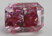 Radiant Cut Pinkish Purple HPHT Color Treated Loose Diamond (0.72 Ct, VS2)