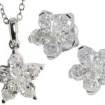 Four Matched Diamond Jewelry Set Ideas
