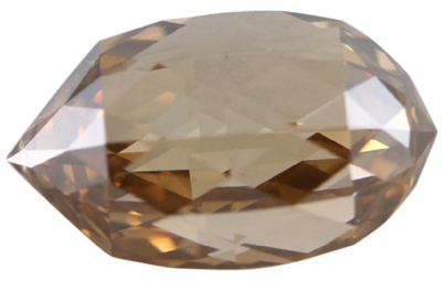 Briolette Cut Loose Diamond (4.24 Ct, Natural Fancy Brown Orange Color, SI1 Clarity) GIA Certified