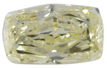Octagonal Brilliant Loose Diamond (1.51 Ct, Natural Fancy Light Greenish Yellow Color, SI1 Clarity) GIA Certified