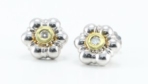 Petal Floral Design diamond Stud Earrings