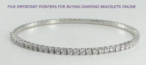 An 18k round white gold bangle diamond bracelet set with diamonds