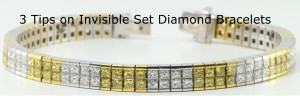 An 18-karat white and yellow gold invisible set bracelet
